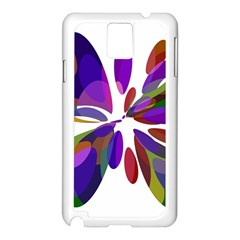 Colorful abstract flower Samsung Galaxy Note 3 N9005 Case (White)