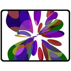 Colorful abstract flower Double Sided Fleece Blanket (Large)