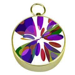 Colorful abstract flower Gold Compasses