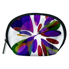 Colorful abstract flower Accessory Pouches (Medium)