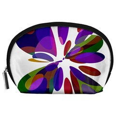 Colorful abstract flower Accessory Pouches (Large)