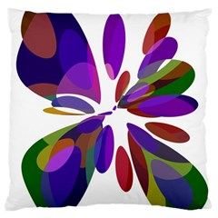 Colorful abstract flower Standard Flano Cushion Case (One Side)