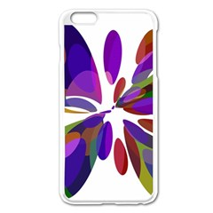 Colorful abstract flower Apple iPhone 6 Plus/6S Plus Enamel White Case
