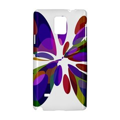 Colorful abstract flower Samsung Galaxy Note 4 Hardshell Case