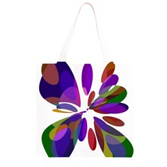 Colorful abstract flower Grocery Light Tote Bag
