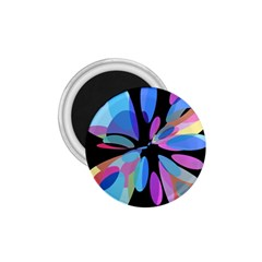 Blue abstract flower 1.75  Magnets