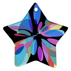 Blue abstract flower Ornament (Star)