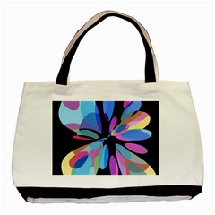 Blue abstract flower Basic Tote Bag