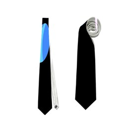 Blue abstract flower Neckties (Two Side)