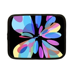 Blue abstract flower Netbook Case (Small)