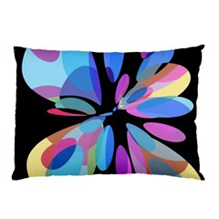 Blue abstract flower Pillow Case