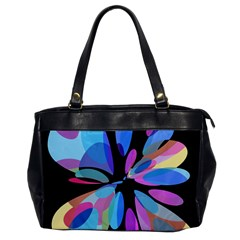 Blue abstract flower Office Handbags