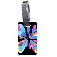 Blue abstract flower Luggage Tags (One Side)