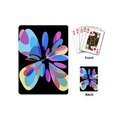 Blue abstract flower Playing Cards (Mini)