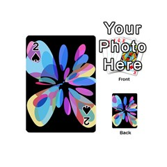 Blue abstract flower Playing Cards 54 (Mini)