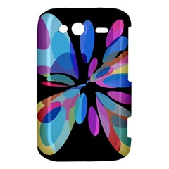 Blue abstract flower HTC Wildfire S A510e Hardshell Case