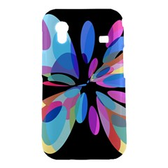 Blue abstract flower Samsung Galaxy Ace S5830 Hardshell Case