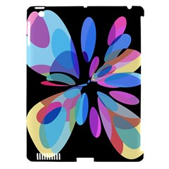 Blue abstract flower Apple iPad 3/4 Hardshell Case (Compatible with Smart Cover)