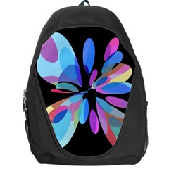 Blue abstract flower Backpack Bag