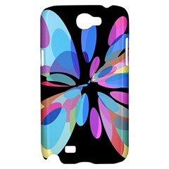 Blue abstract flower Samsung Galaxy Note 2 Hardshell Case