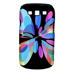 Blue abstract flower Samsung Galaxy S III Classic Hardshell Case (PC+Silicone)