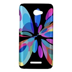 Blue abstract flower HTC Butterfly X920E Hardshell Case