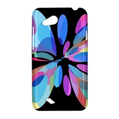 Blue abstract flower HTC Desire VC (T328D) Hardshell Case