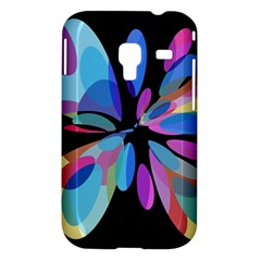 Blue abstract flower Samsung Galaxy Ace Plus S7500 Hardshell Case