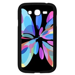 Blue abstract flower Samsung Galaxy Grand DUOS I9082 Case (Black)