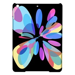 Blue abstract flower iPad Air Hardshell Cases