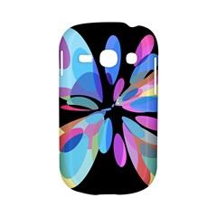 Blue abstract flower Samsung Galaxy S6810 Hardshell Case