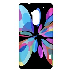 Blue abstract flower HTC One Max (T6) Hardshell Case