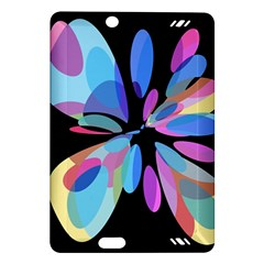 Blue abstract flower Amazon Kindle Fire HD (2013) Hardshell Case