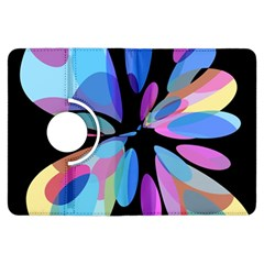 Blue abstract flower Kindle Fire HDX Flip 360 Case