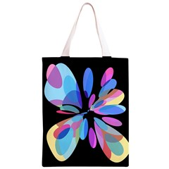 Blue abstract flower Classic Light Tote Bag