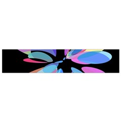 Blue abstract flower Flano Scarf (Small)