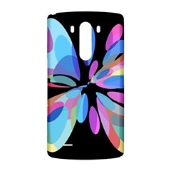 Blue abstract flower LG G3 Back Case