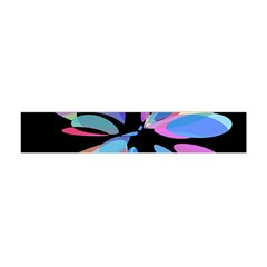 Blue abstract flower Flano Scarf (Mini)