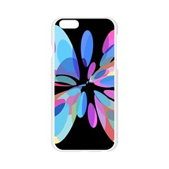 Blue abstract flower Apple Seamless iPhone 6/6S Case (Transparent)