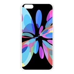 Blue abstract flower Apple Seamless iPhone 6 Plus/6S Plus Case (Transparent)