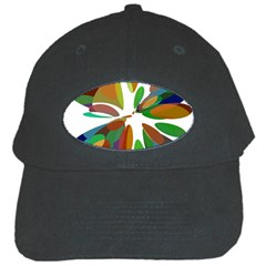 Colorful abstract flower Black Cap