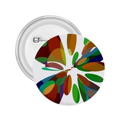 Colorful abstract flower 2.25  Buttons