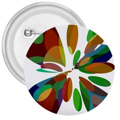 Colorful abstract flower 3  Buttons