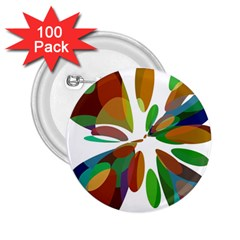 Colorful abstract flower 2.25  Buttons (100 pack)