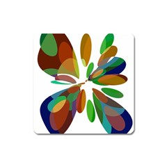 Colorful abstract flower Square Magnet