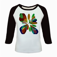 Colorful abstract flower Kids Baseball Jerseys