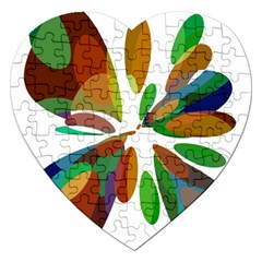 Colorful abstract flower Jigsaw Puzzle (Heart)