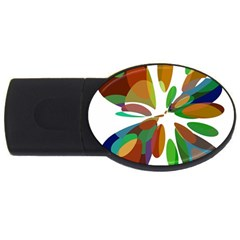 Colorful abstract flower USB Flash Drive Oval (4 GB)