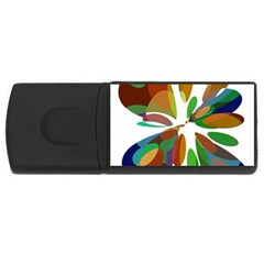 Colorful abstract flower USB Flash Drive Rectangular (4 GB)