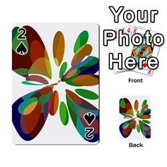 Colorful abstract flower Playing Cards 54 Designs